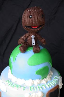 Superb Little Big Planet Cake Sackboy Rose Atwater Birthday Cards Printable Riciscafe Filternl