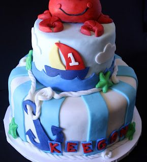 Rose Bakes… Anchors Aweigh Birthday Cake