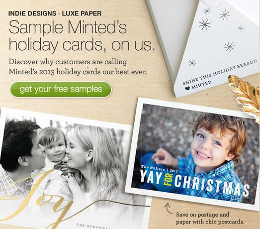 Minted: Free Holiday Card Sample Kit