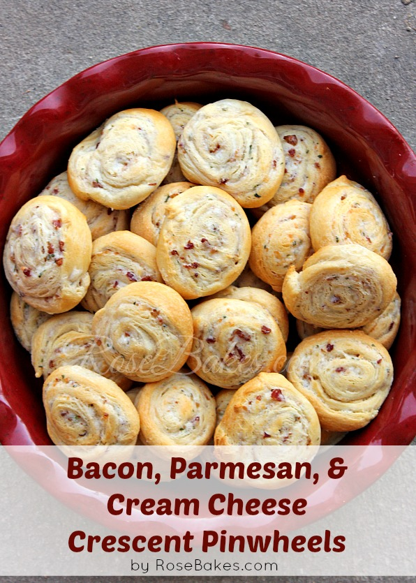 Bacon, Parmesan & Cream Cheese Crescent Pinwheels