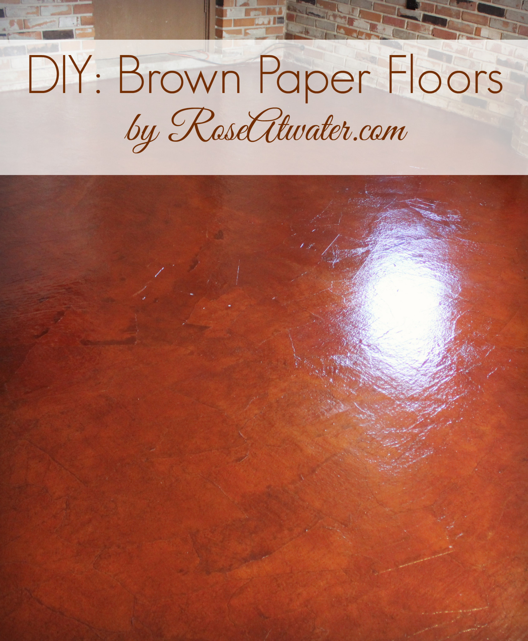 DIY: How to do Brown Paper Floors
