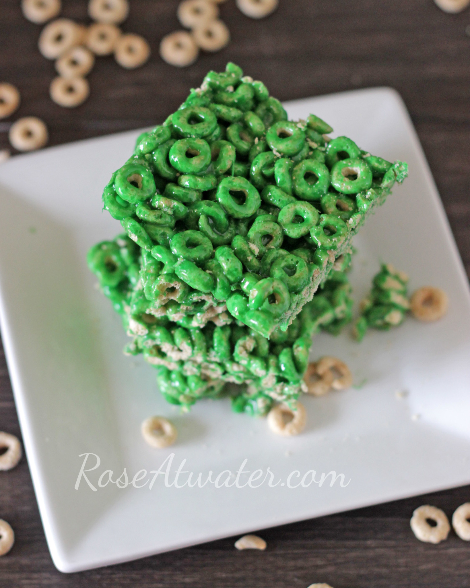 St. Patrick's Day Cheerios Marshmallow Cereal Bars