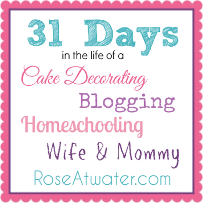31 Days in the Life of… Day 6.  PS – Can we skip Mondays from now on??