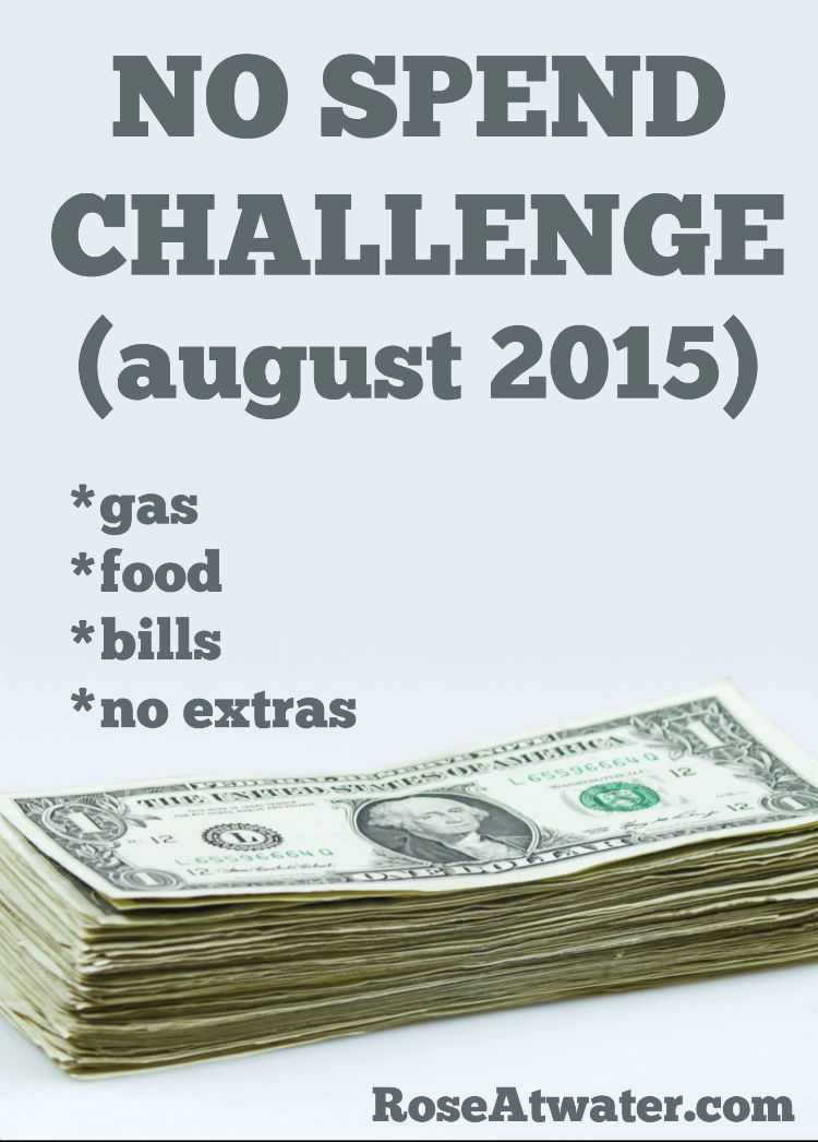 No Spend Challenge August 2015 : Day 10