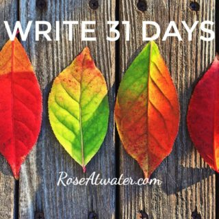 Write 31 Days – Days 17 and 18