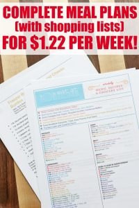 Eat at Home Meal Plans with Grocery Lists | as low as $1.22 per week!